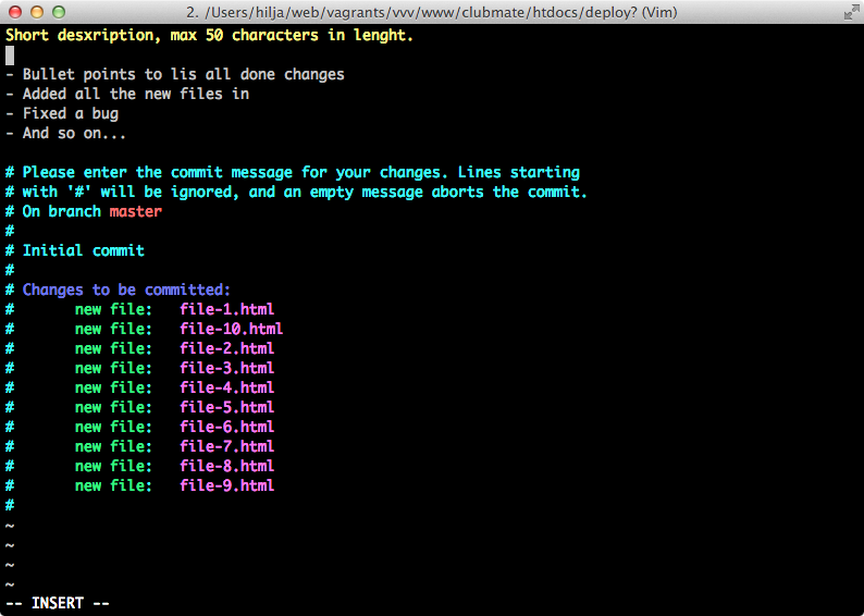 Screen shot of a terminal prompt