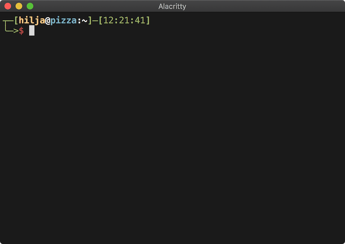 Screen shot of Alacritty terminal. Bliss.